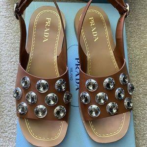 Prada Jeweled Sandals